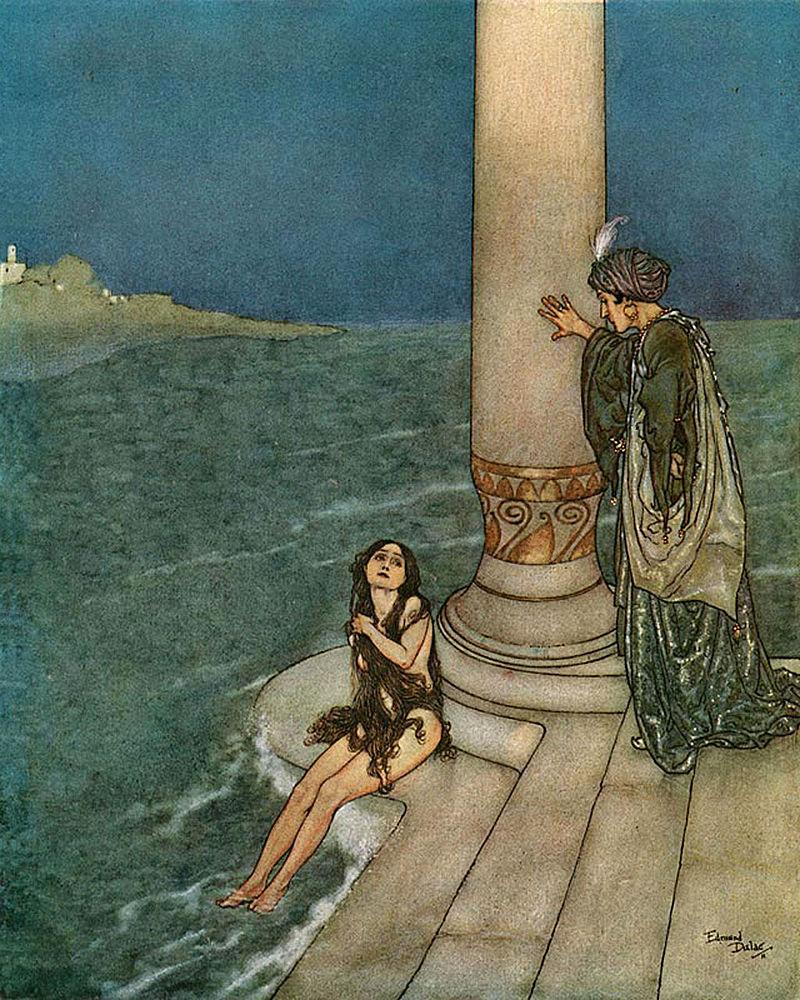 800px-Edmund_Dulac_-_The_Mermaid_-_The_Prince